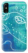 Abstract Block Print In Blue IPhone Case