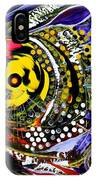 Abstract Busy Bee Fish IPhone Case