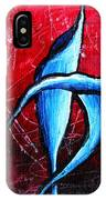 Abstract Calla Lilly Textured Painting Greeting Lillies By Madart IPhone Case