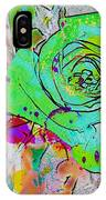 Abstract Childlike Rose IPhone Case