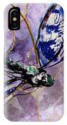 Abstract Dragonfly 9 IPhone Case