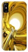 Abstract Gold Rings IPhone Case