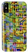 Abstract Image Of A Circuit Board. IPhone Case