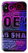 Abstract Joe's Crabshack Sign IPhone Case