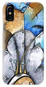 Abstract Martini Tropical Contemporary Original Painting Martini On The Beach By Madart IPhone Case