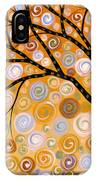 Abstract Modern Tree Landscape Dreams Of Gold By Amy Giacomelli IPhone Case