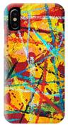 Abstract Pizza 1 IPhone Case