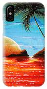 Abstract Surreal Tropical Coastal Art Original Painting Tropical Fusion By Madart IPhone Case
