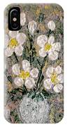 Abstract Wild Roses Heavy Impasto IPhone Case