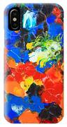 Acrylic Abstract Upon Wood IPhone Case