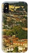 Aerial View Of Santiago De Cuba, Cuba IPhone Case