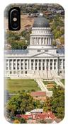 Aerial View Of Utah State Capitol Building IPhone Case