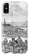 Africa: Benin City, 1686 IPhone Case