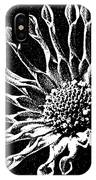 African Daisy In Black And White IPhone Case