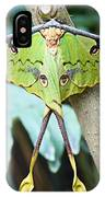 African Moon Moth 1 IPhone Case