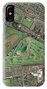Aintree Horse Racing Track, Aerial Image IPhone Case