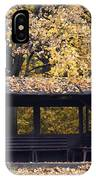 Alcove In The Autumn Park IPhone Case