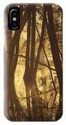 Alder Tree Marshland At Sunrise IPhone Case