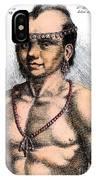 Algonquian Man, 1645 IPhone Case