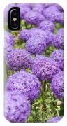 Allium Flower At The Boston Common IPhone Case