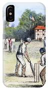 American Cricket, 1882 IPhone Case