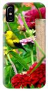 American Goldfinch In The Garden IPhone Case