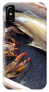 American Lobster And Cod Caught Off Chatham On Cape Cod IPhone Case