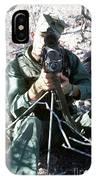 An Army Ranger Sets Up An Anpaq-1 Laser IPhone Case