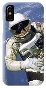 An Astronaut Floats And Maneuvers IPhone Case
