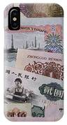 An Image Of Chinas Colorful Paper Money IPhone Case