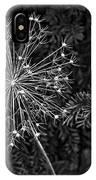 Anatomy Of A Flower Monochrome 2 IPhone Case