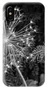Anatomy Of A Flower Monochrome IPhone Case