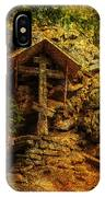 Ancient Cross. Holy Island  IPhone Case