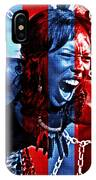 Anger In Red And Blue IPhone Case