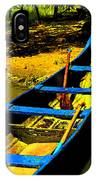 Angled Intensive Canoe On Sandy Bank IPhone Case