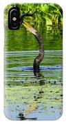 Anhinga Stabs A Fish IPhone Case