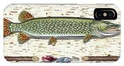 Antique Birch Pike And Lure IPhone Case