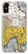 Antique Map Of Asia IPhone Case