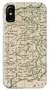 Antique Map Of Spain IPhone Case