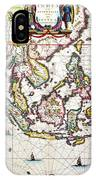 Antique Map Showing Southeast Asia And The East Indies IPhone Case