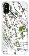 Apple Tree In Bloom With Spring Snow IPhone Case