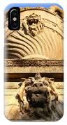 Architectural Detail . Large Urn With Lion Gargoyle  . Hearst Gym . Uc Berkeley . 7d10191 IPhone Case
