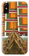 Architectural Detail Of Wat Pho Temple IPhone Case