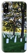 Arlington Cemetery Graves IPhone Case