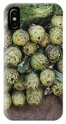 Artichokes And Greens Arranged IPhone Case