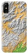 Artistic Map Of Southern Appalachia IPhone Case