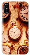 Assorted Watches On Time Chart IPhone Case
