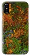 Asters And Ferns IPhone Case