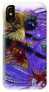 Asters With Dew And Bumblebee IPhone Case