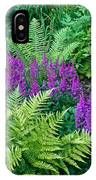 Astilbe And Ferns IPhone Case